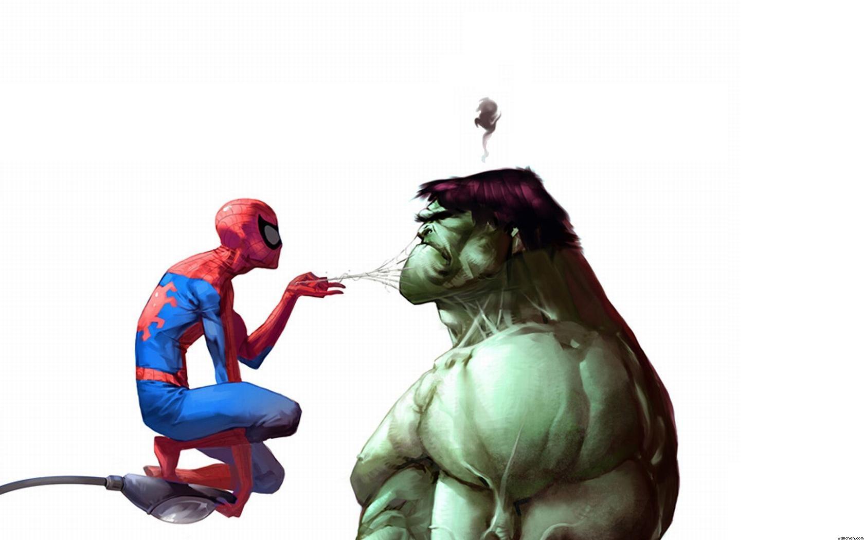 Халк девушка и человек паук