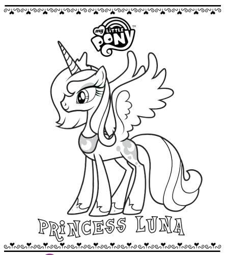 принцесса луна раскраски мои маленькие пони раскраски