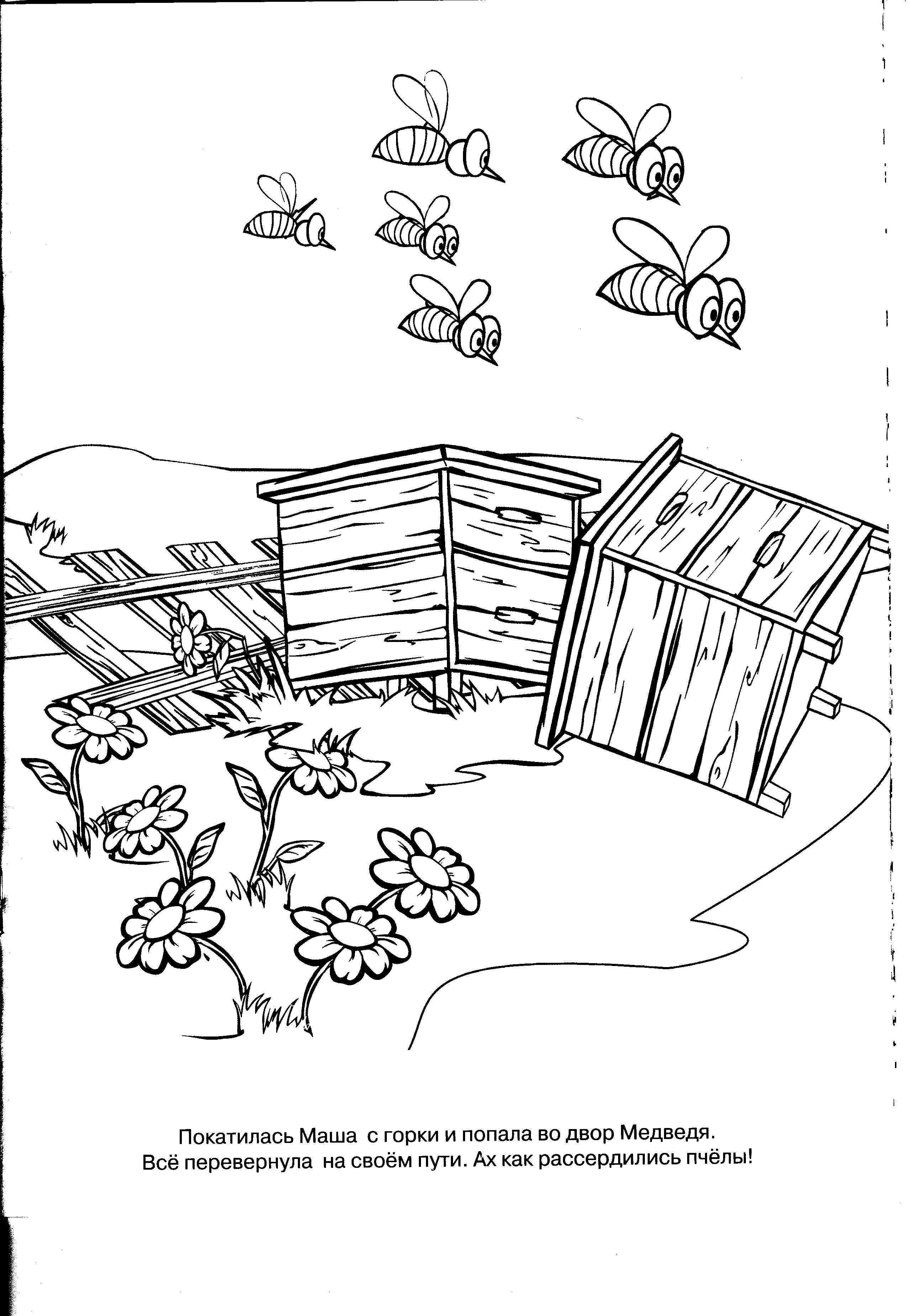 Рисунок улья из мультфильмов 6