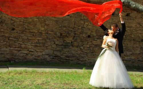 Картинка рисованная жениха и невесты